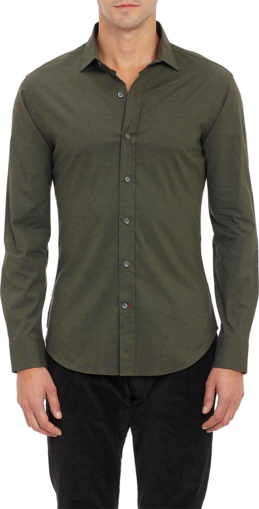 Ralph lauren black label endonend spread collar shirt in for What is a spread collar shirt