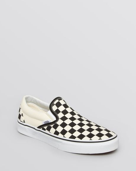 Vans Unisex Unisex Slip On Flat Sneakers - Canvas Check in ...