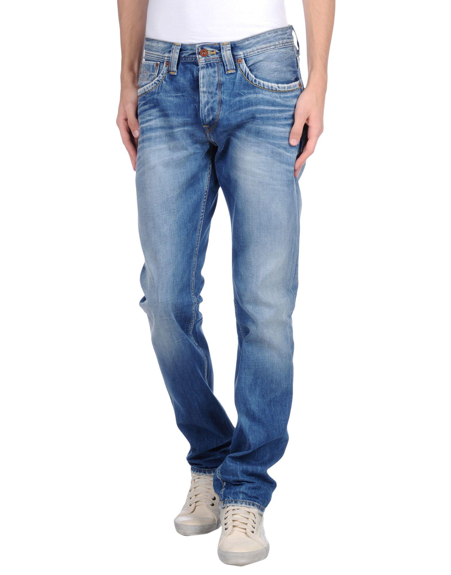 pepe jeans blue denim trousers for men lyst. Black Bedroom Furniture Sets. Home Design Ideas