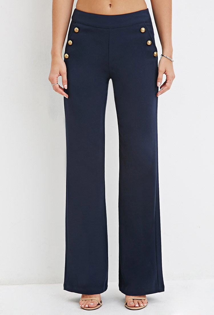 Forever 21 Wide-leg Sailor Pants in Blue | Lyst
