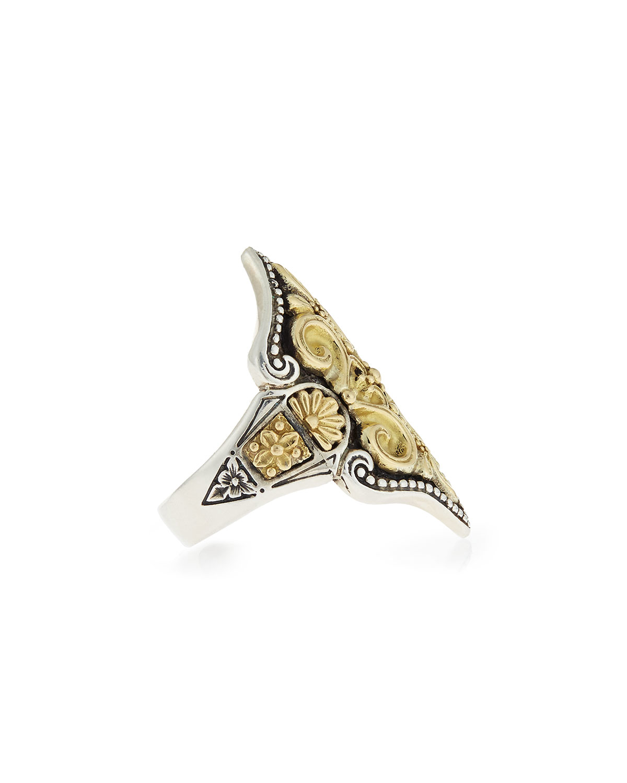 Konstantino Carved 18K Gold Fleur de Lis Ring ijp3o