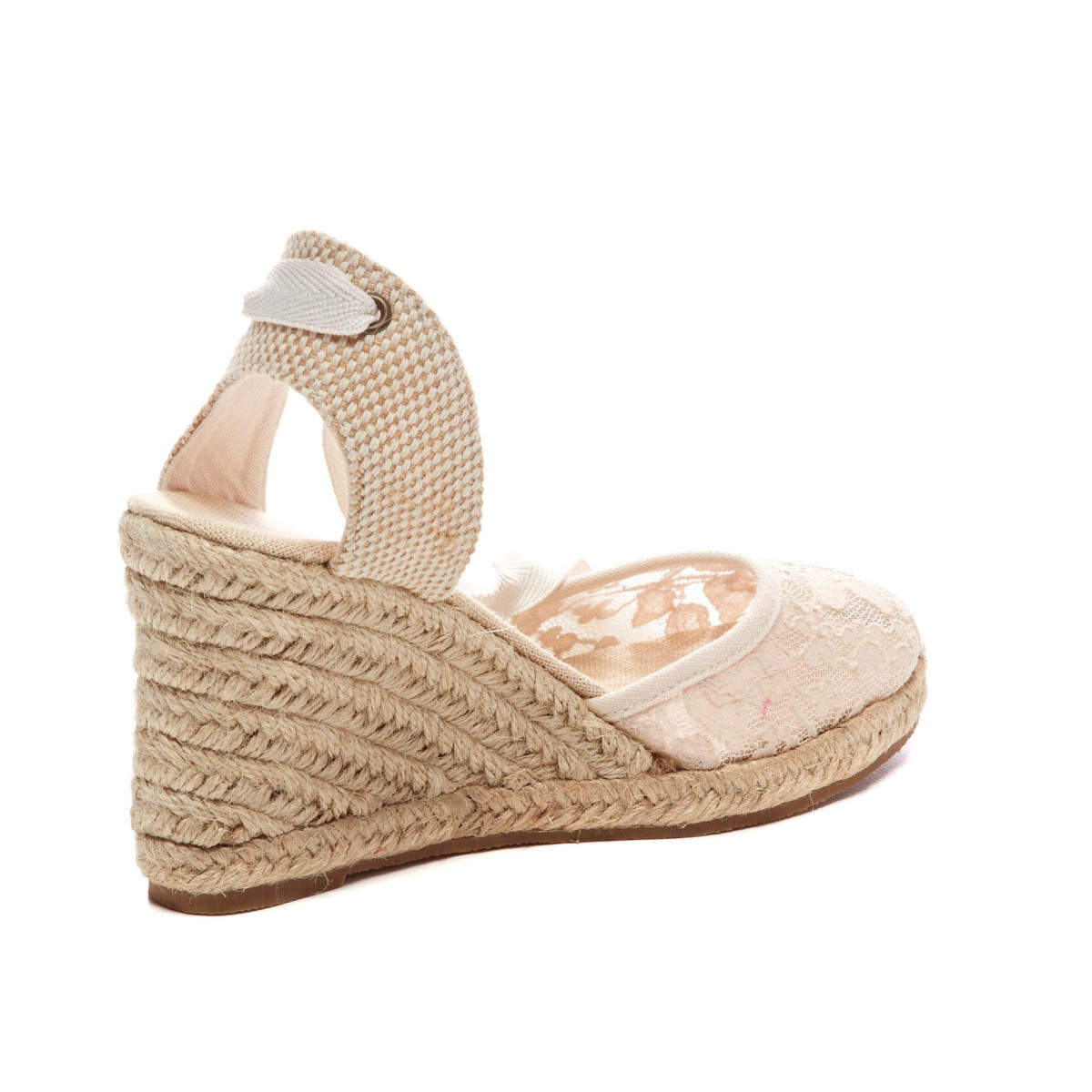 176dd78e5d4 Lyst - Soludos Chantilly Lace Tall Wedge in Natural