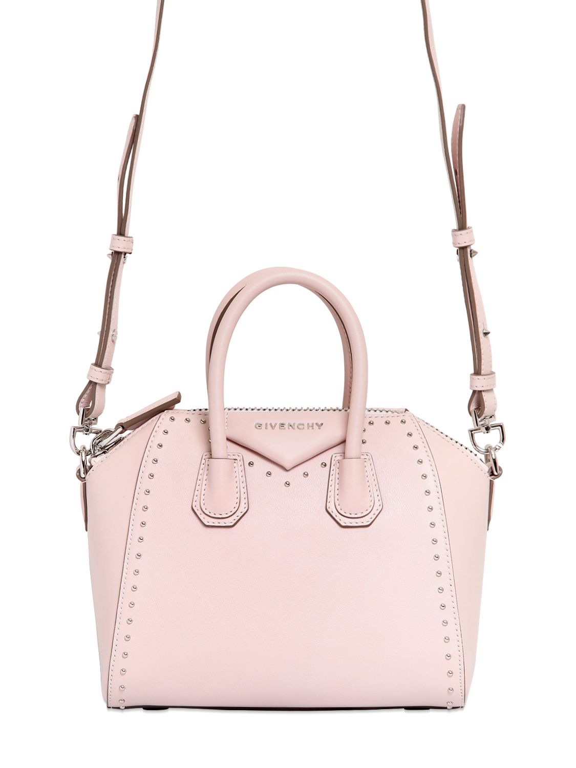 4fec92fdf1 Lyst - Givenchy Antigona Mini Leather Cross-body Bag in Pink