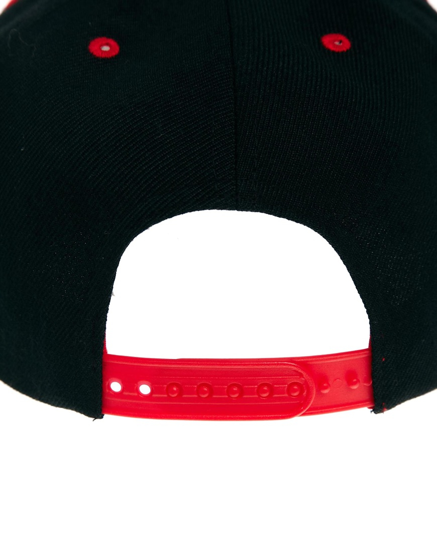 8985c059bea Lyst - New Balance Courtside Snapback Cap in Black in Red