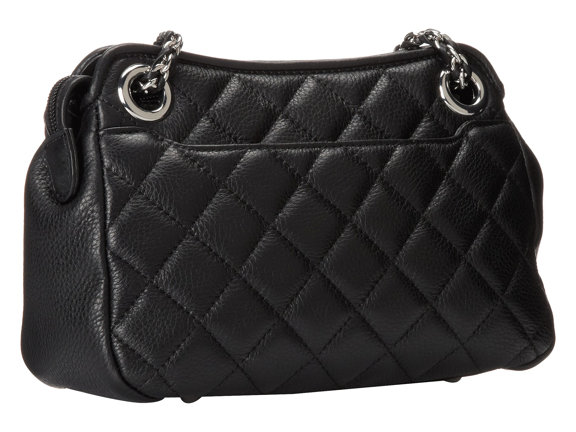 Calvin Klein Quilted Leather Tassel Crossbody In Black Lyst