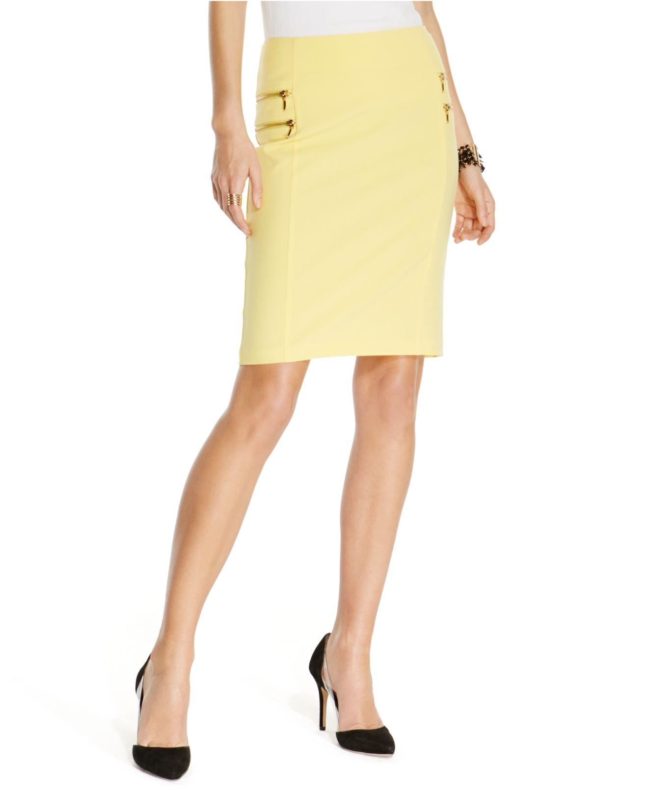 inc international concepts zip pocket pencil skirt in