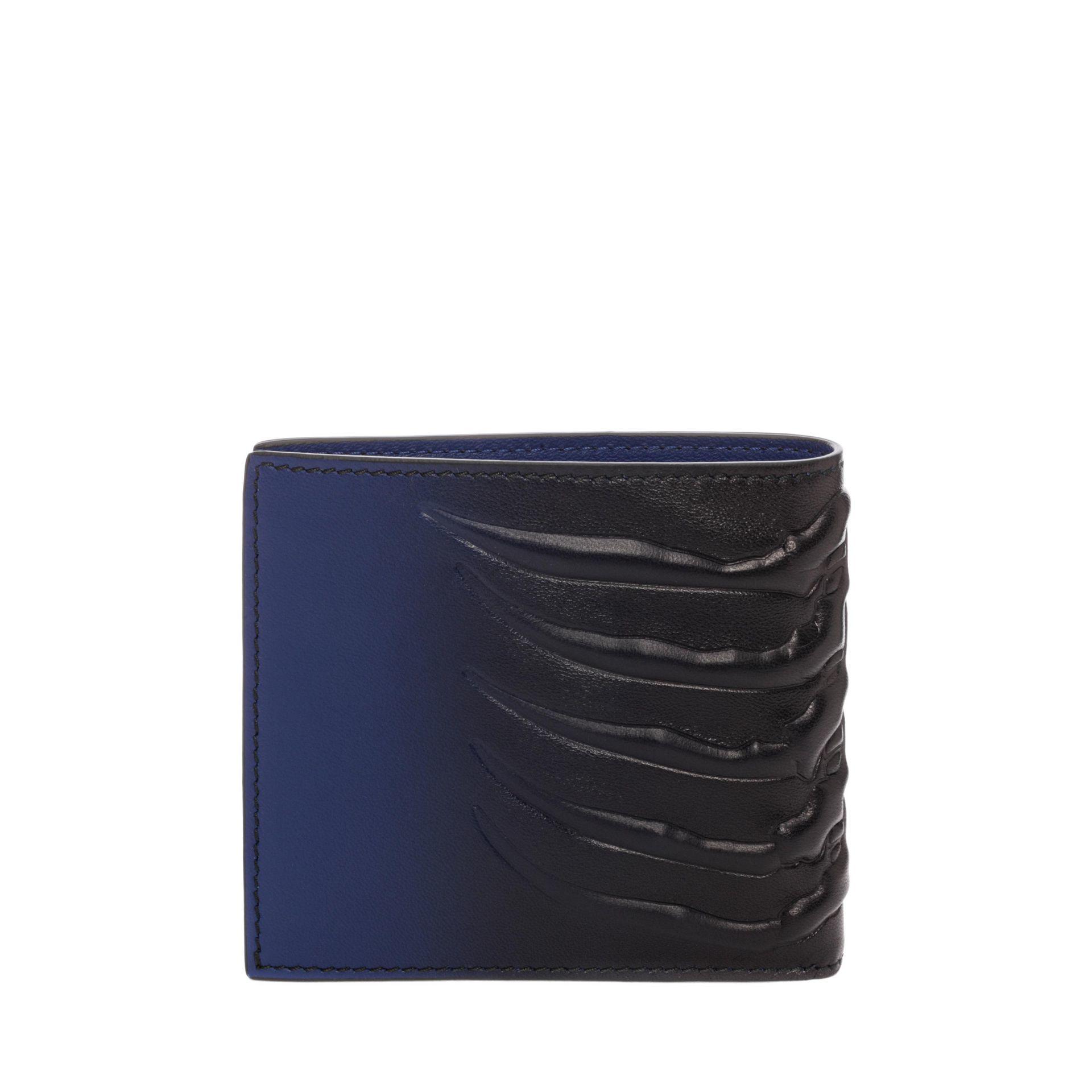 Alexander Mcqueen Leather Billfold Wallet In Ultramarine