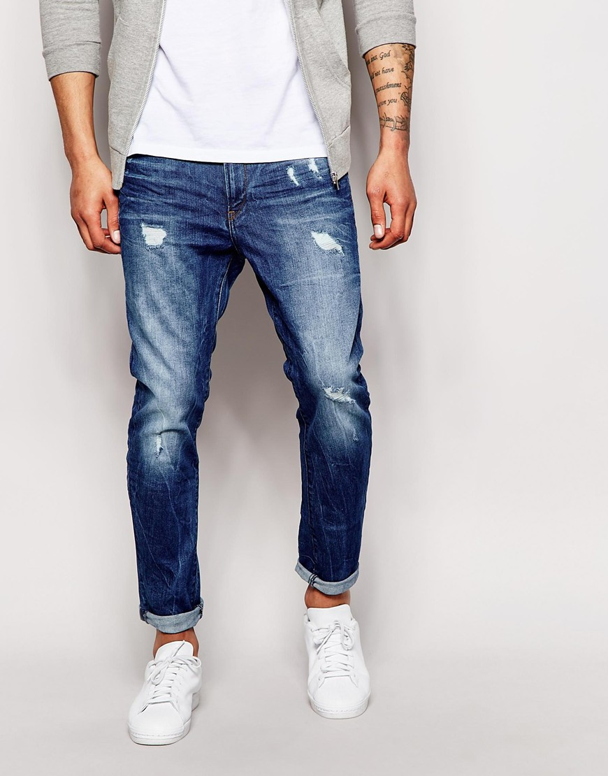3b72d3a1d6d Lyst - G-Star RAW Jeans Type C 3d Super Slim Light Aged Destroy in ...