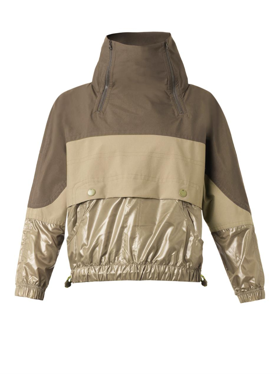 Adidas by stella mccartney Performance Rain Jacket in Green | Lyst