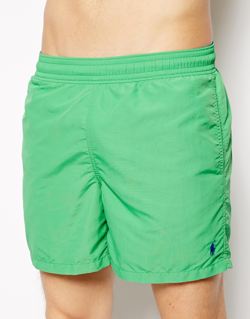 ab9d51f26d2fa ... discount lyst polo ralph lauren green hawaiian swim shorts in green for  men a258b 8f386