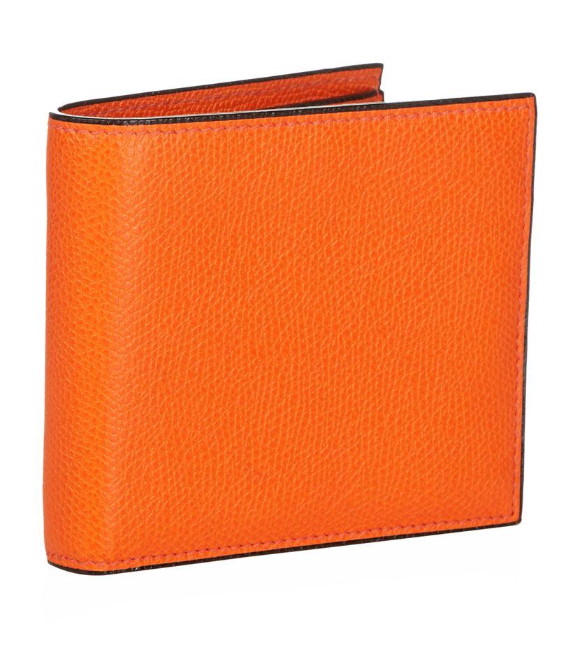 Valextra Leather Billfold Wallet In Orange For Men Lyst