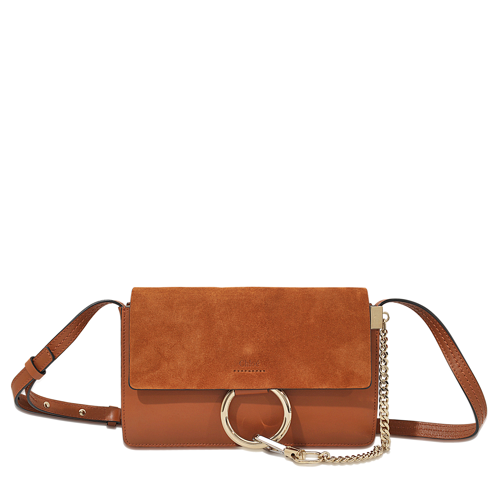 Chlo�� Faye Small Bag With Strap in Brown | Lyst