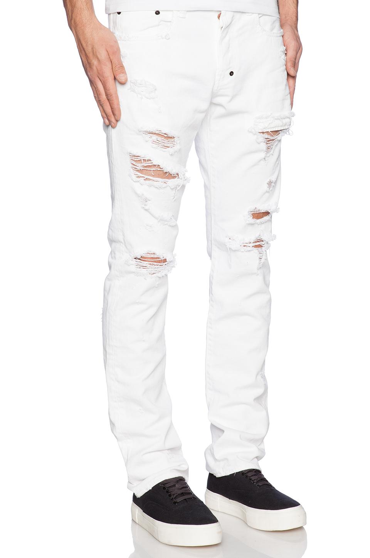 8393ee73ffa Lyst - PRPS Demon Fit Destroyed Jean in White for Men