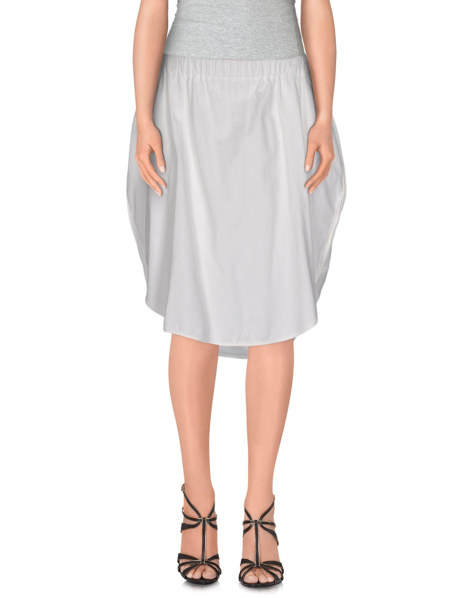 avn knee length skirt in white lyst