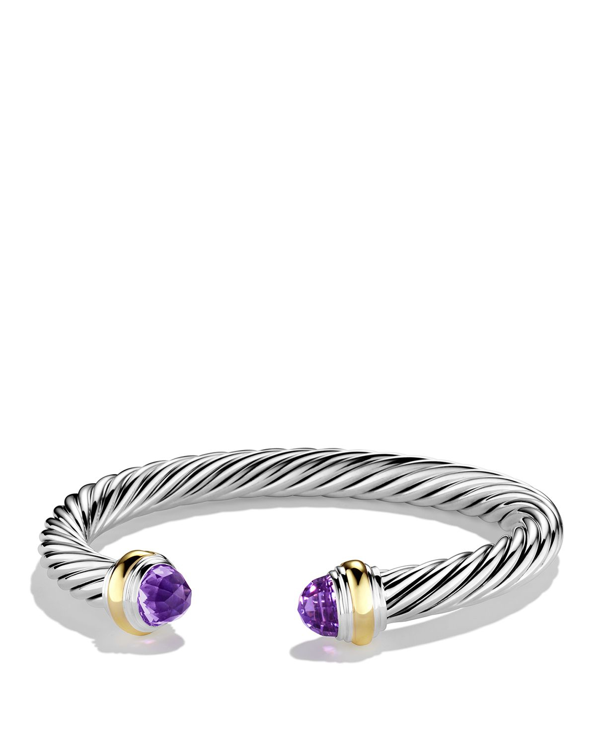 david yurman cable classics bracelet with amethyst and
