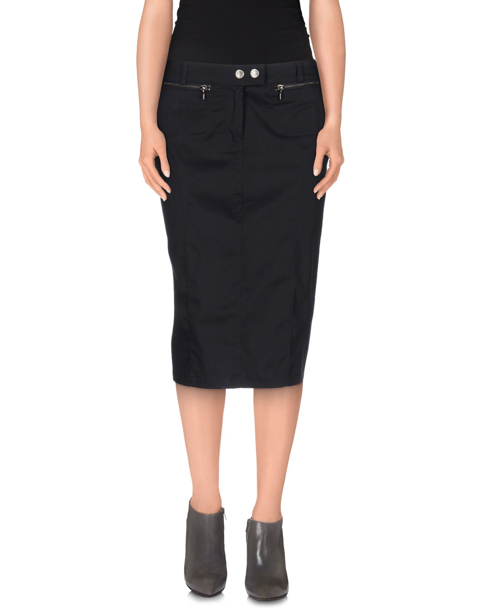 armani knee length skirt in blue lyst