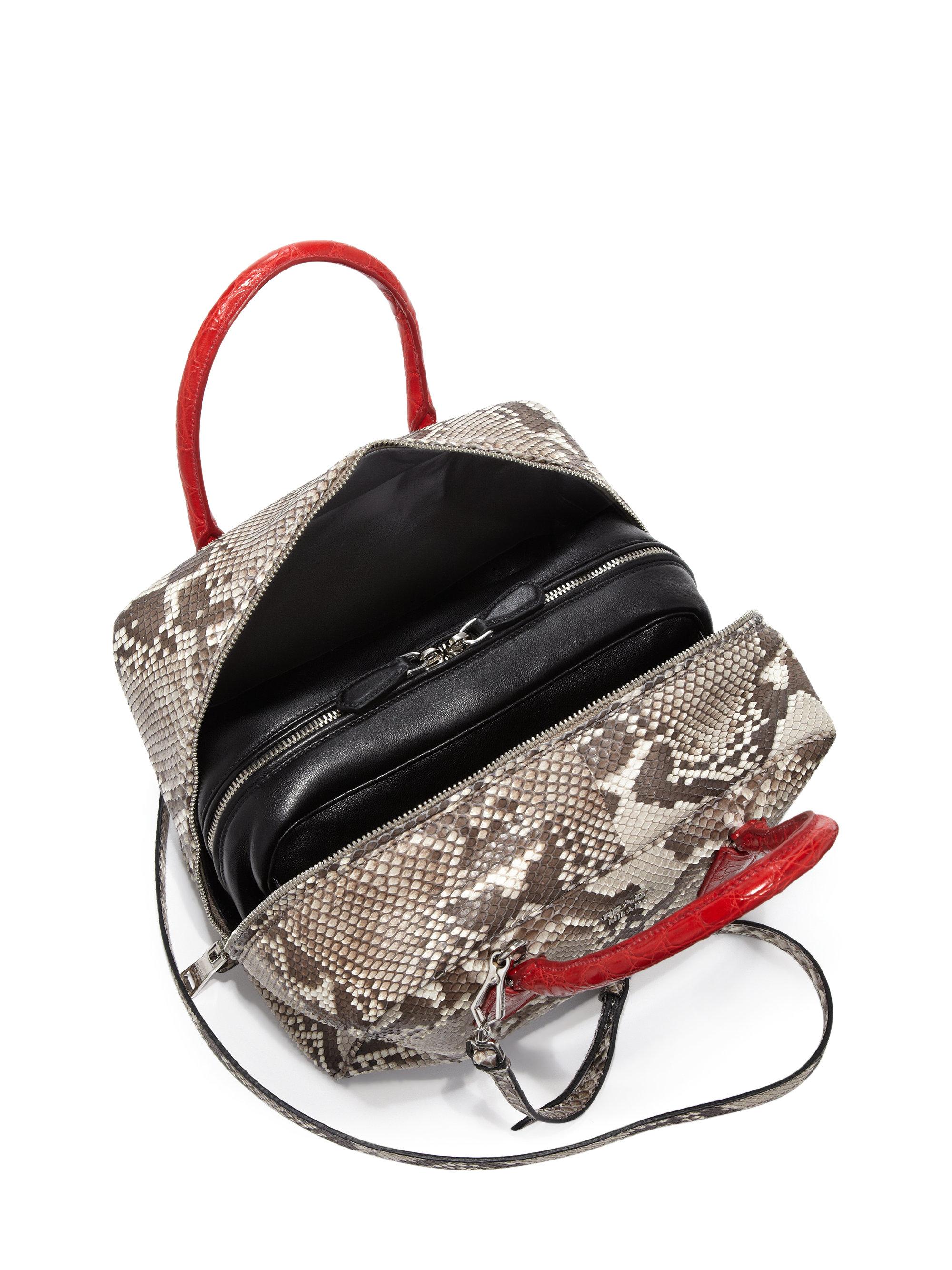 2eb8d127b0ce Prada Python & Crocodile Inside Bag in Red - Lyst