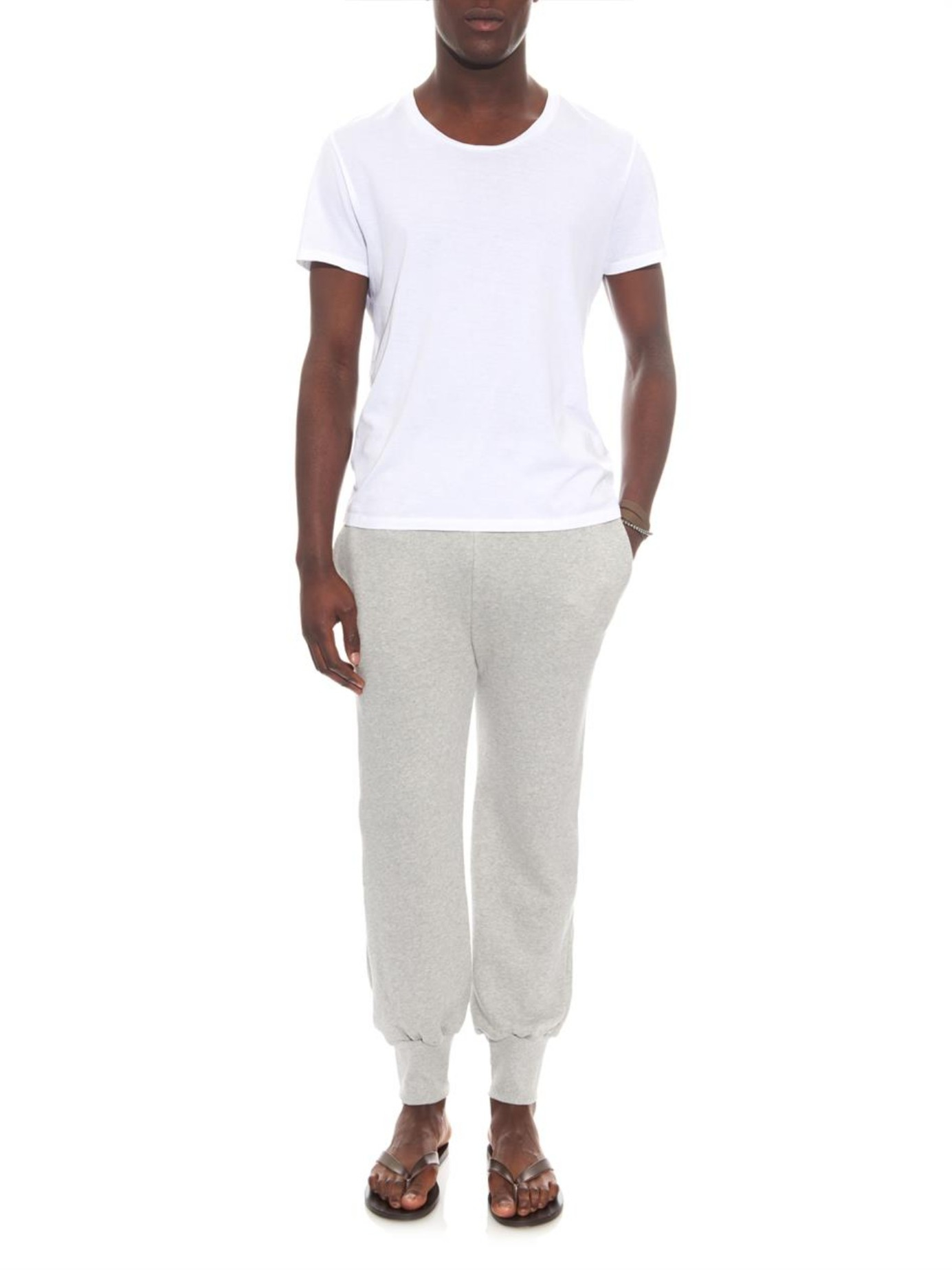 The white briefs Whale Cotton-jersey Track Pants in Gray ...