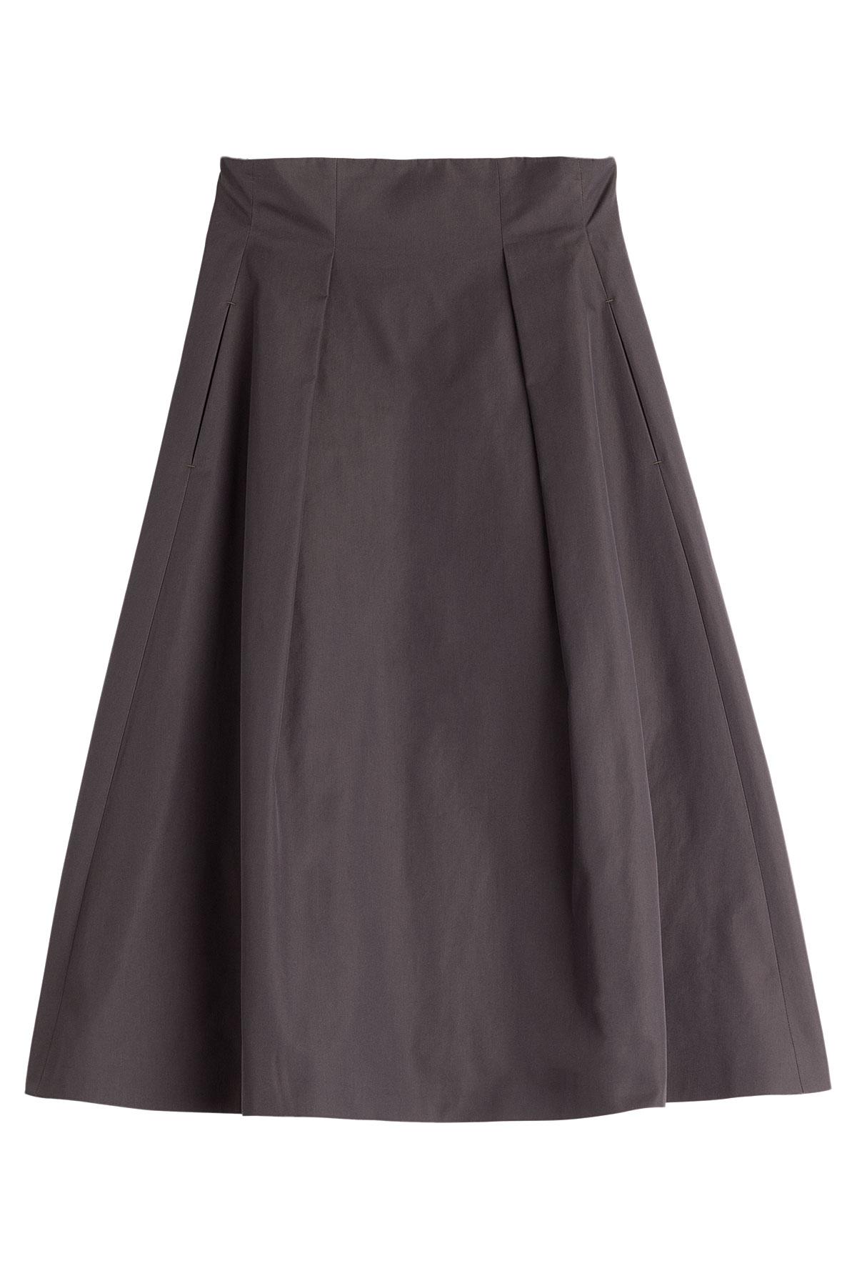 golden goose deluxe brand cotton blend midi skirt in gray