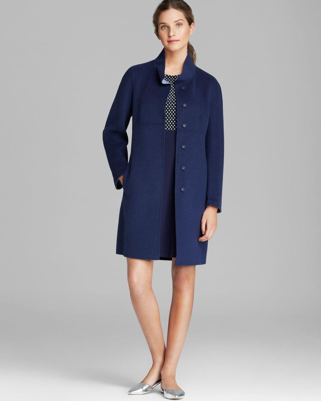 weekend by maxmara coat riom short in blue lyst. Black Bedroom Furniture Sets. Home Design Ideas