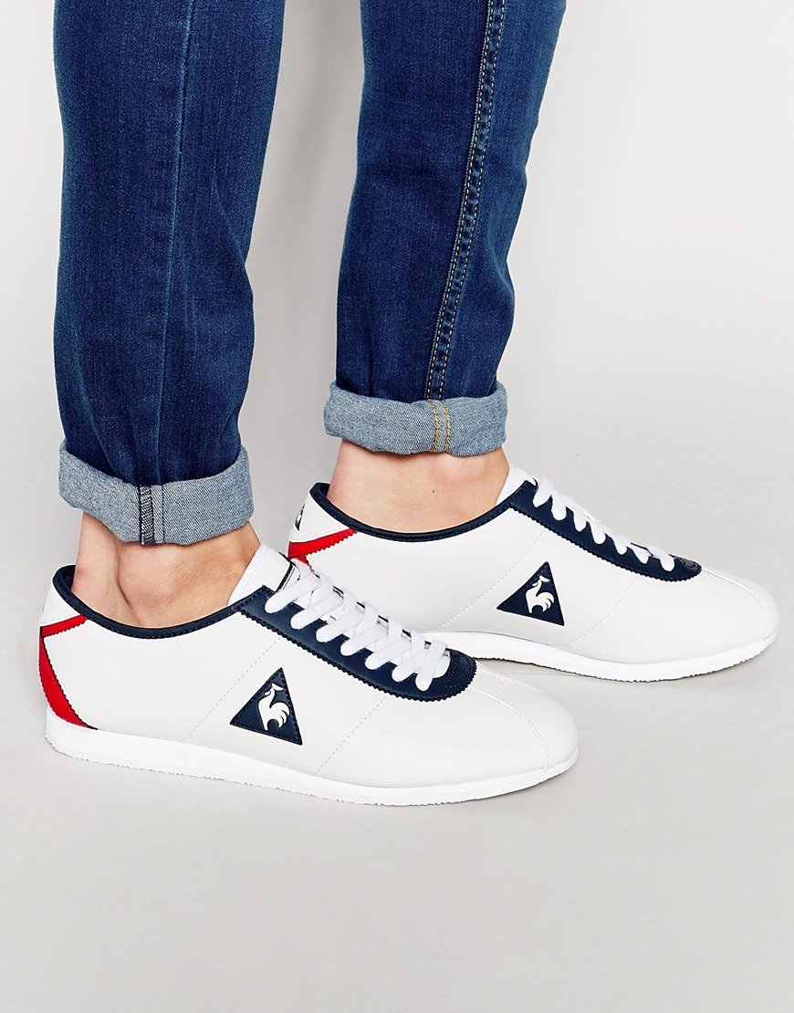 Lyst - Le Coq Sportif Wendon Leather Trainers in White for Men 11a0e22aa