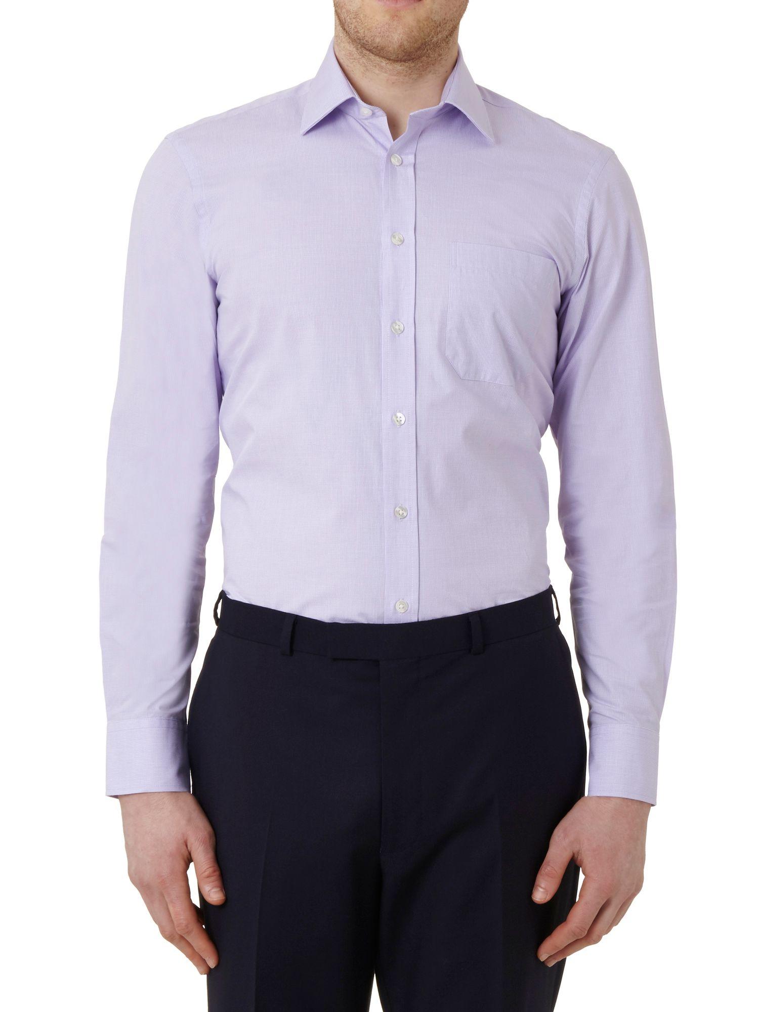 Lyst austin reed quick iron slim fit classic collar for Trim fit tuxedo shirt