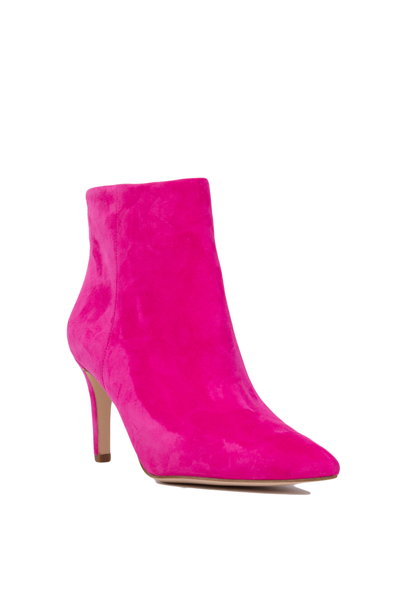 f904e204eb4e Sam Edelman Karen Pointed Toe Booties - Pink Suede in Pink - Lyst