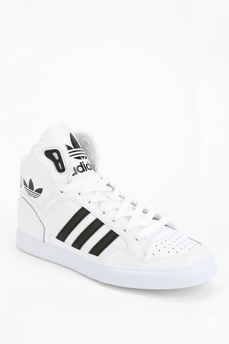 White Extaball Adidas Leather Sneaker Hightop Originals dthrQs