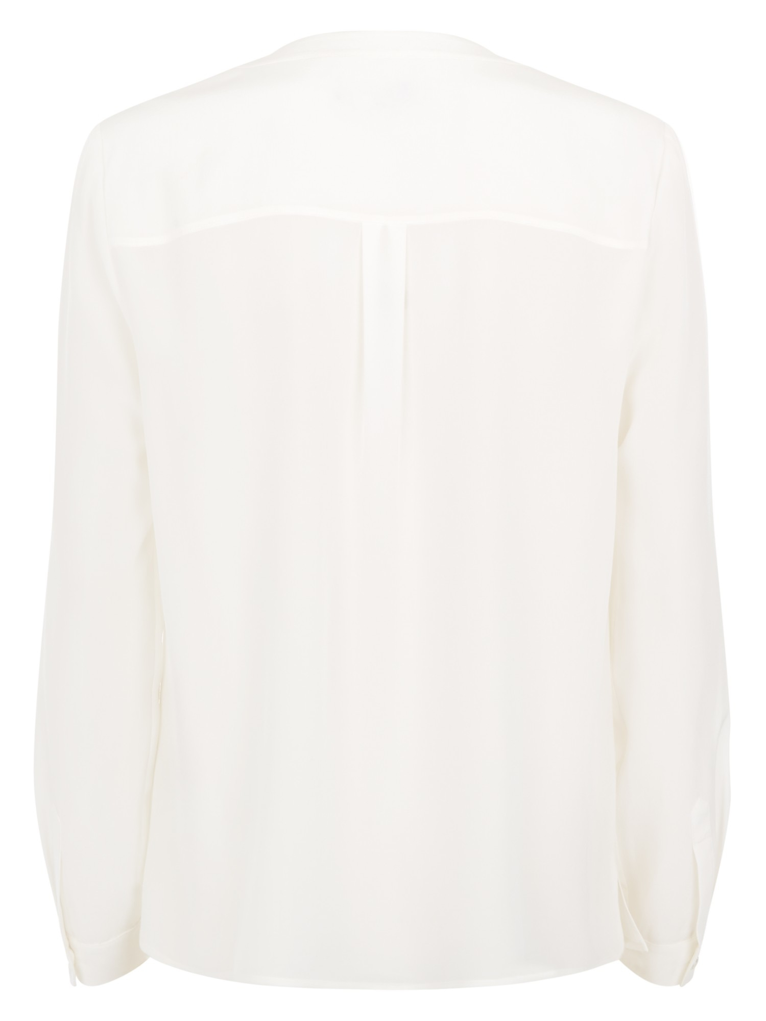 4b27f0704d016 Jaeger V-neck Silk Blouse in Natural - Lyst