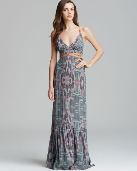 Twelfth Street Cynthia Vincent Maxi Dress Leather Wrap In