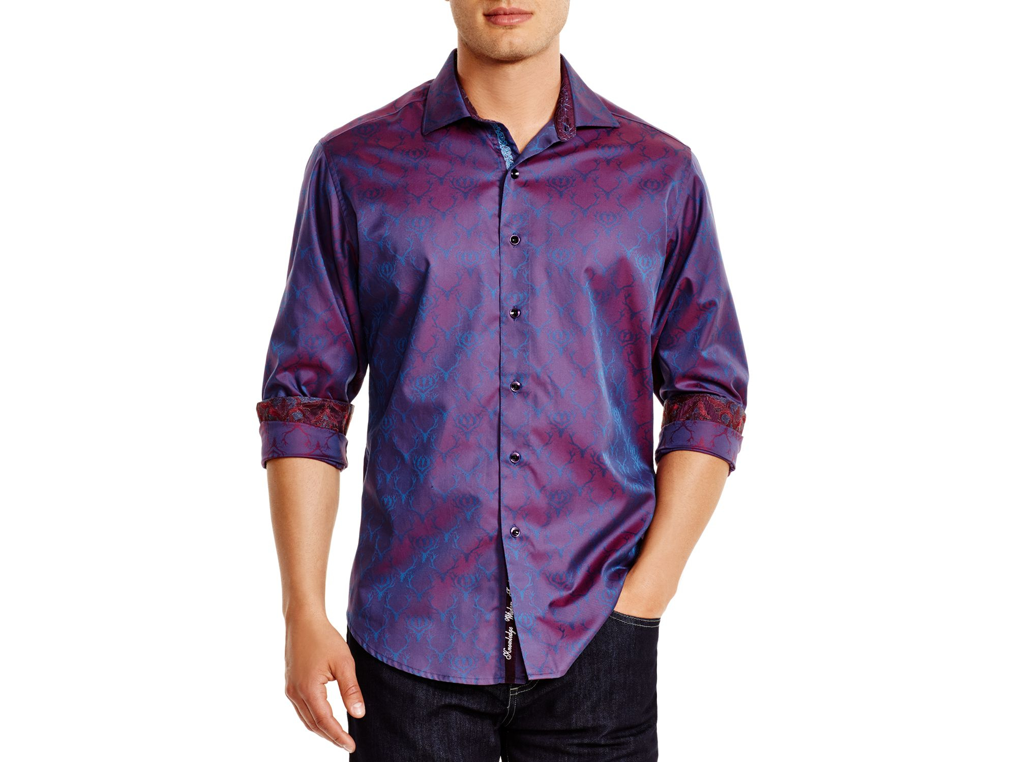 robert graham thistle classic fit button down shirt in