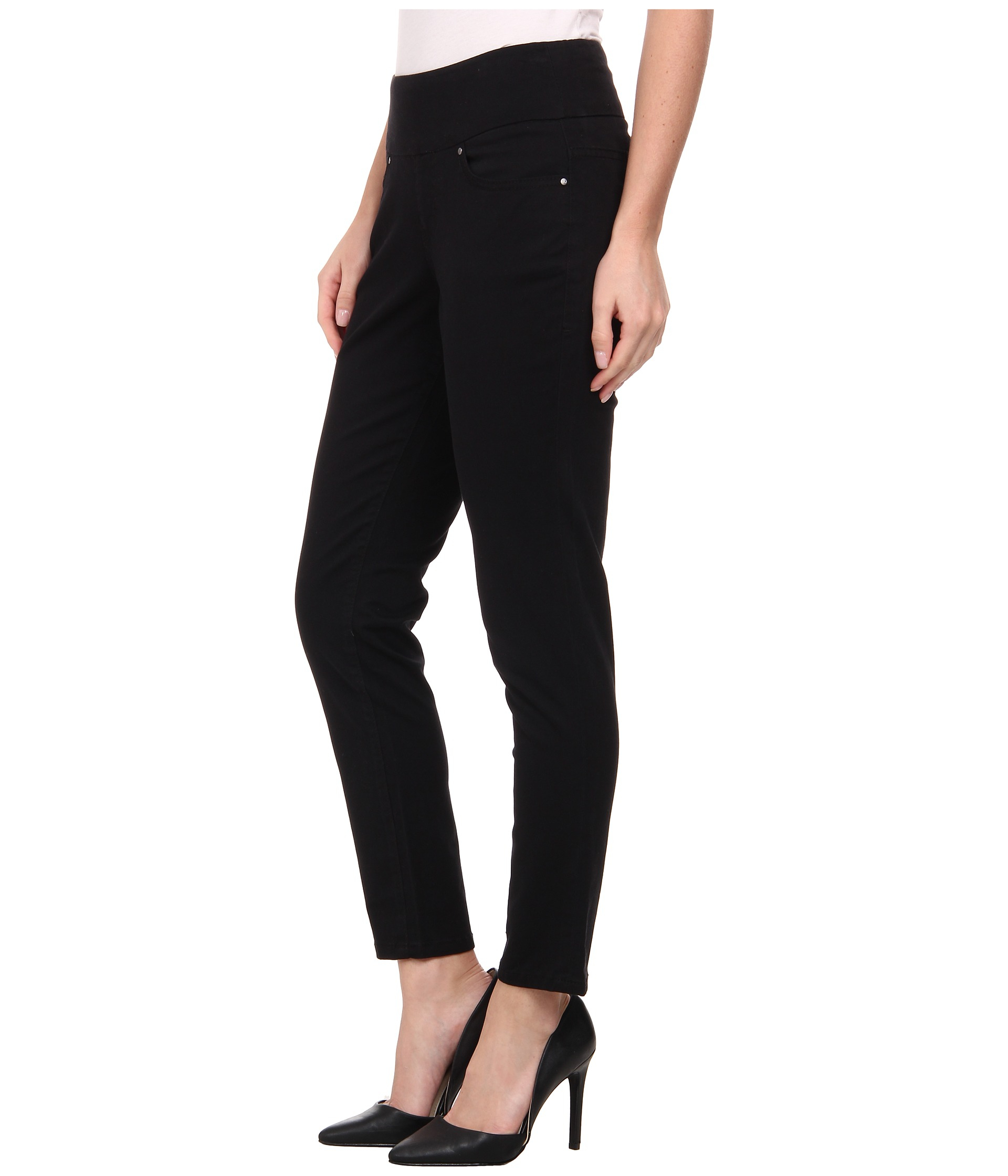 Jag jeans Amelia Pull-on Slim Ankle In Bay Twill in Black | Lyst