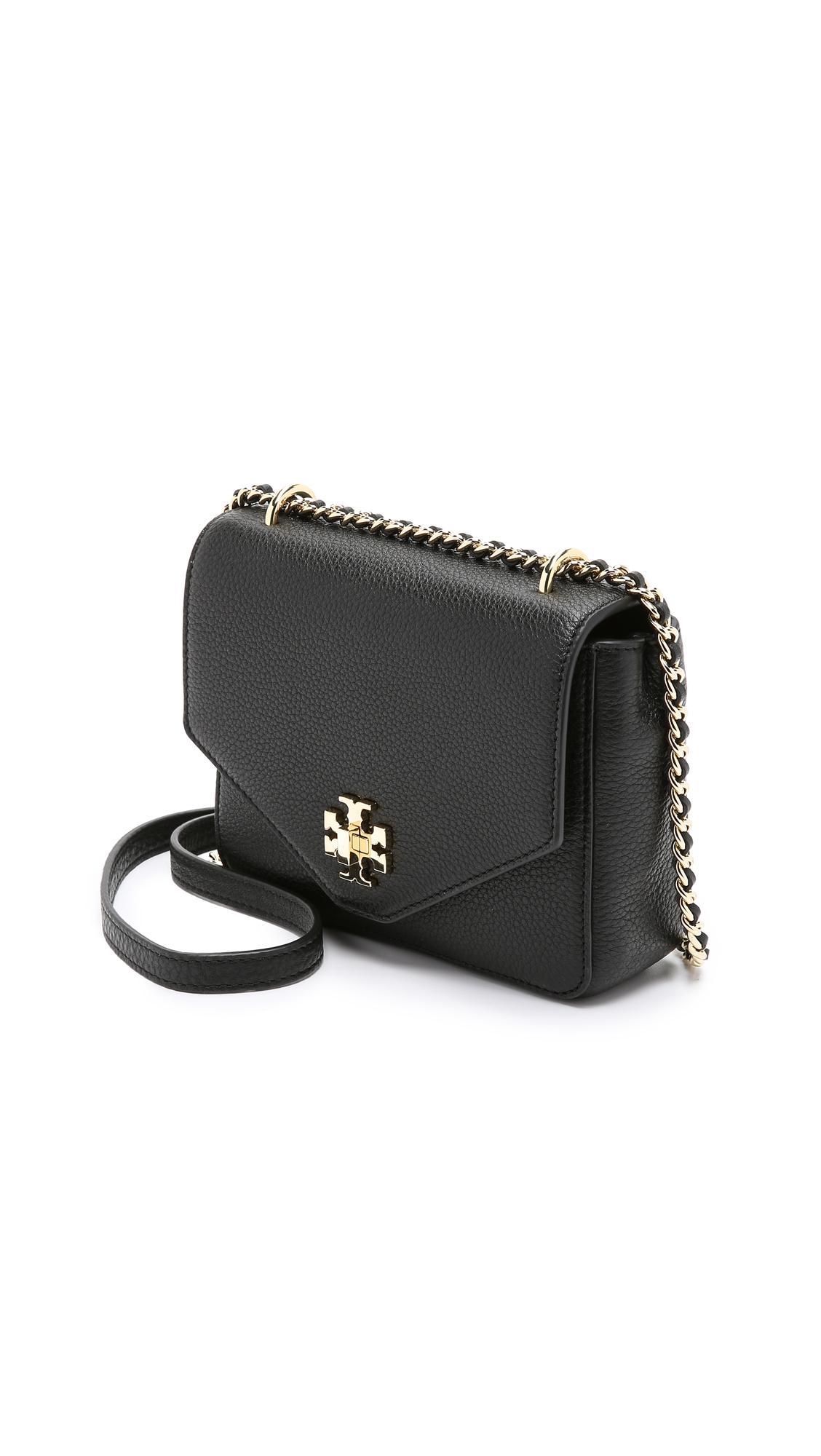 6345077751d Lyst - Tory Burch Kira Mini Chain Cross Body Bag in Black