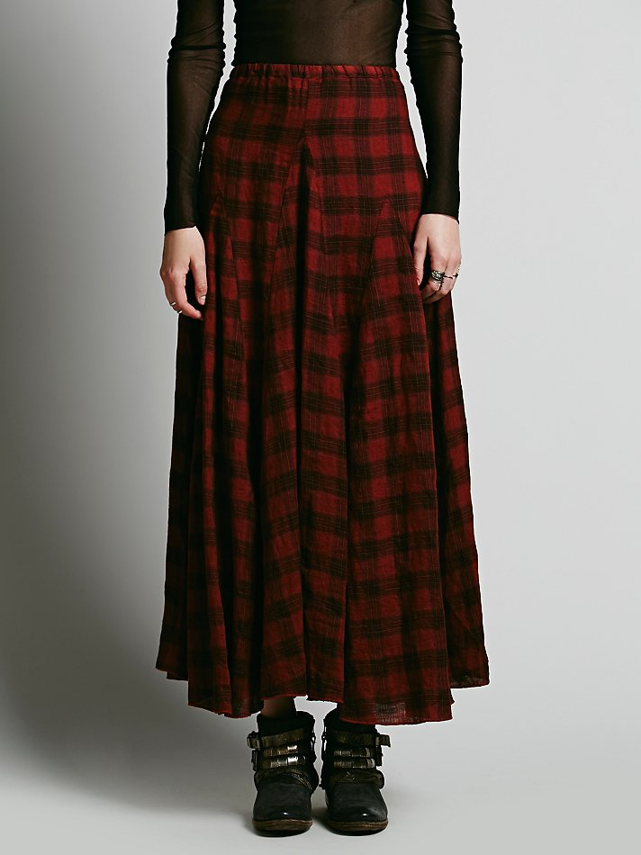 Free People Cp Shades Womens Sienna Plaid Maxi Skirt Lyst