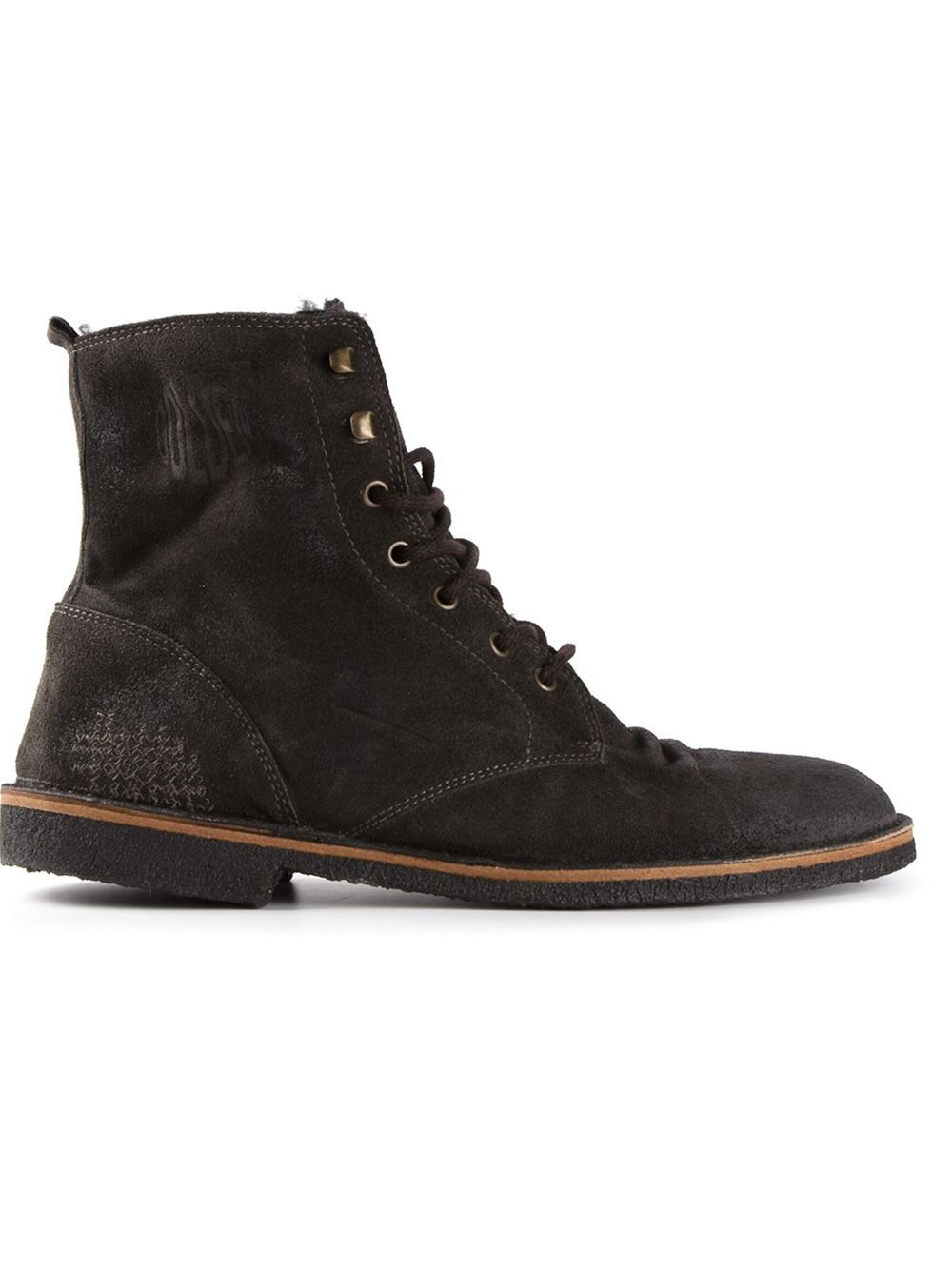 golden goose deluxe brand distressed lace up boots in