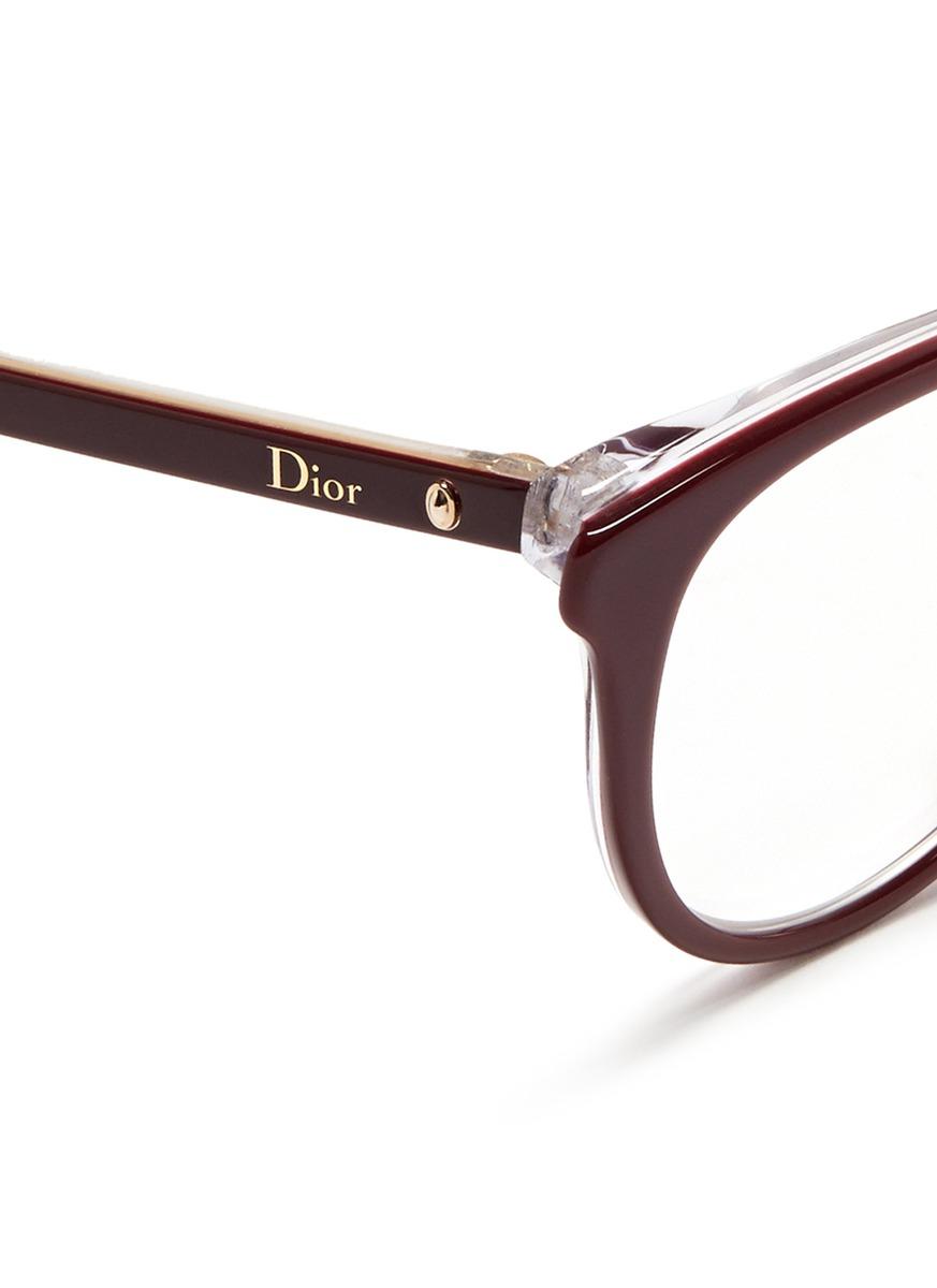 8b027595843 Dior  montaigne  Acetate Cat Eye Optical Glasses in Purple - Lyst