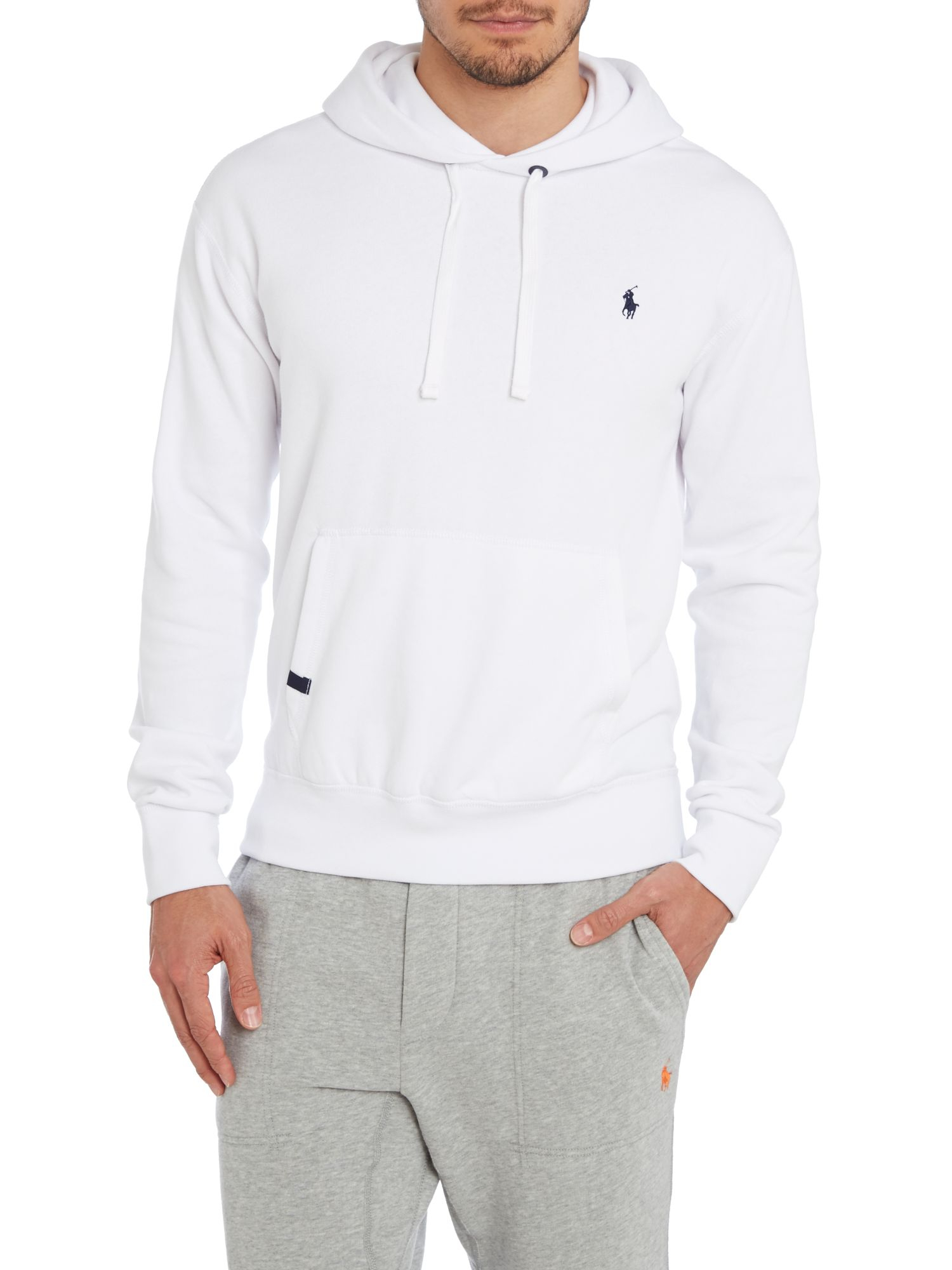 polo ralph lauren magic fleece hooded sweatshirt in white. Black Bedroom Furniture Sets. Home Design Ideas