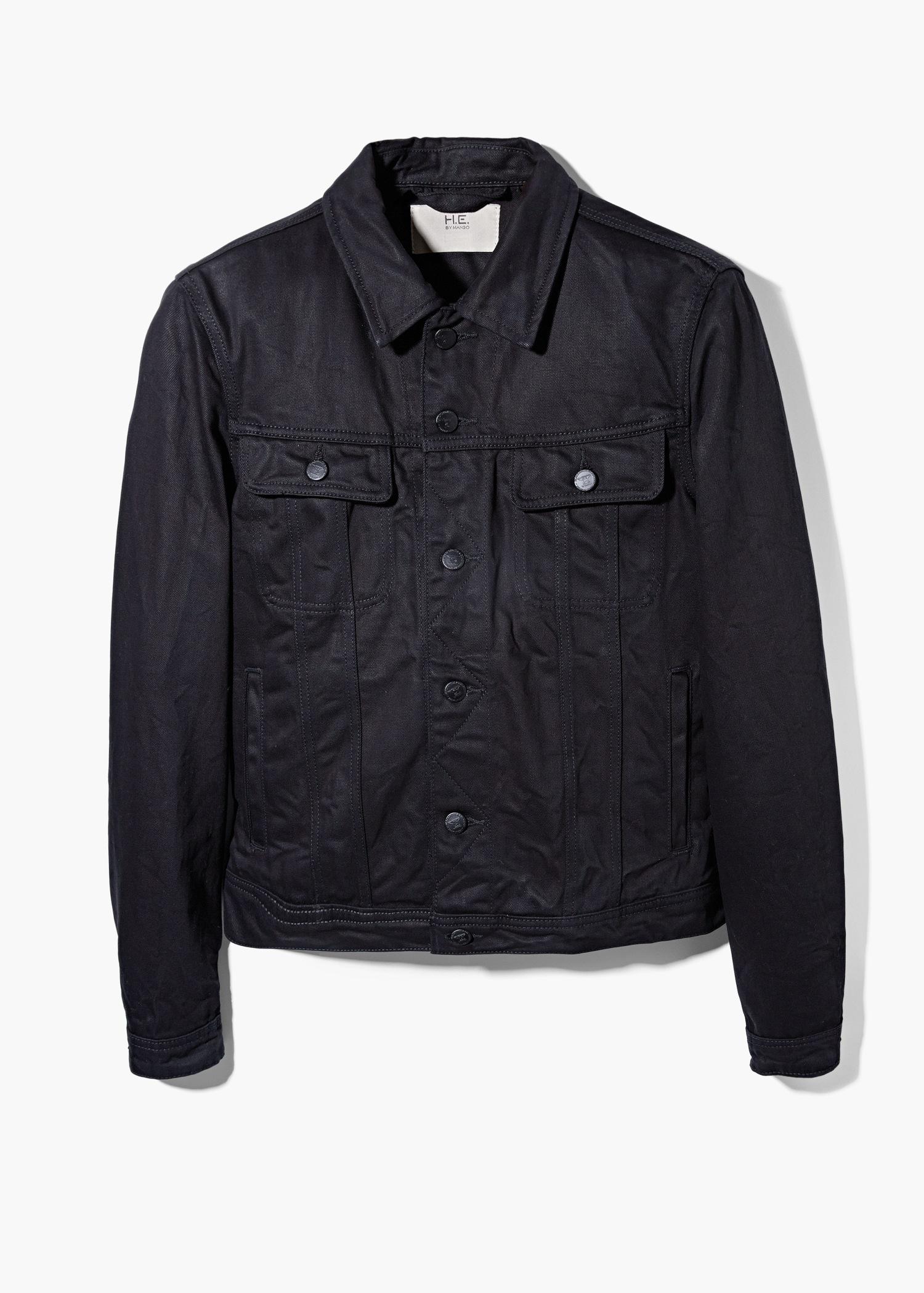 Mango Black Denim Jacket In Gray For Men - Lyst-1792