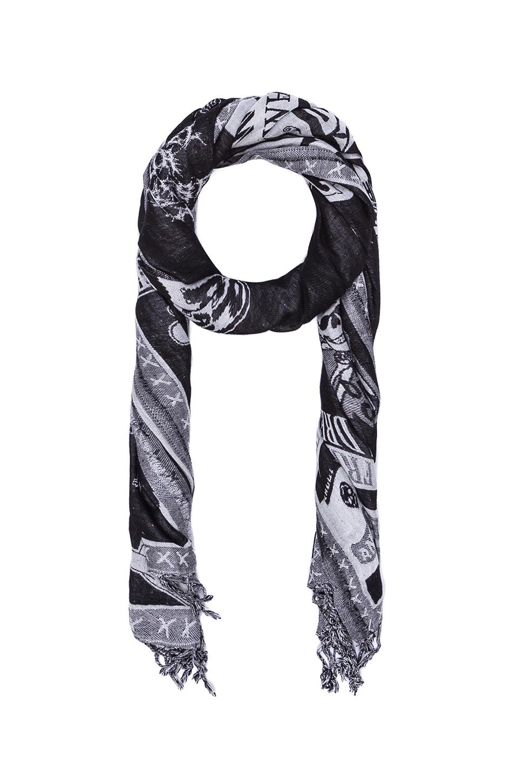 diesel selda scarf in black for lyst