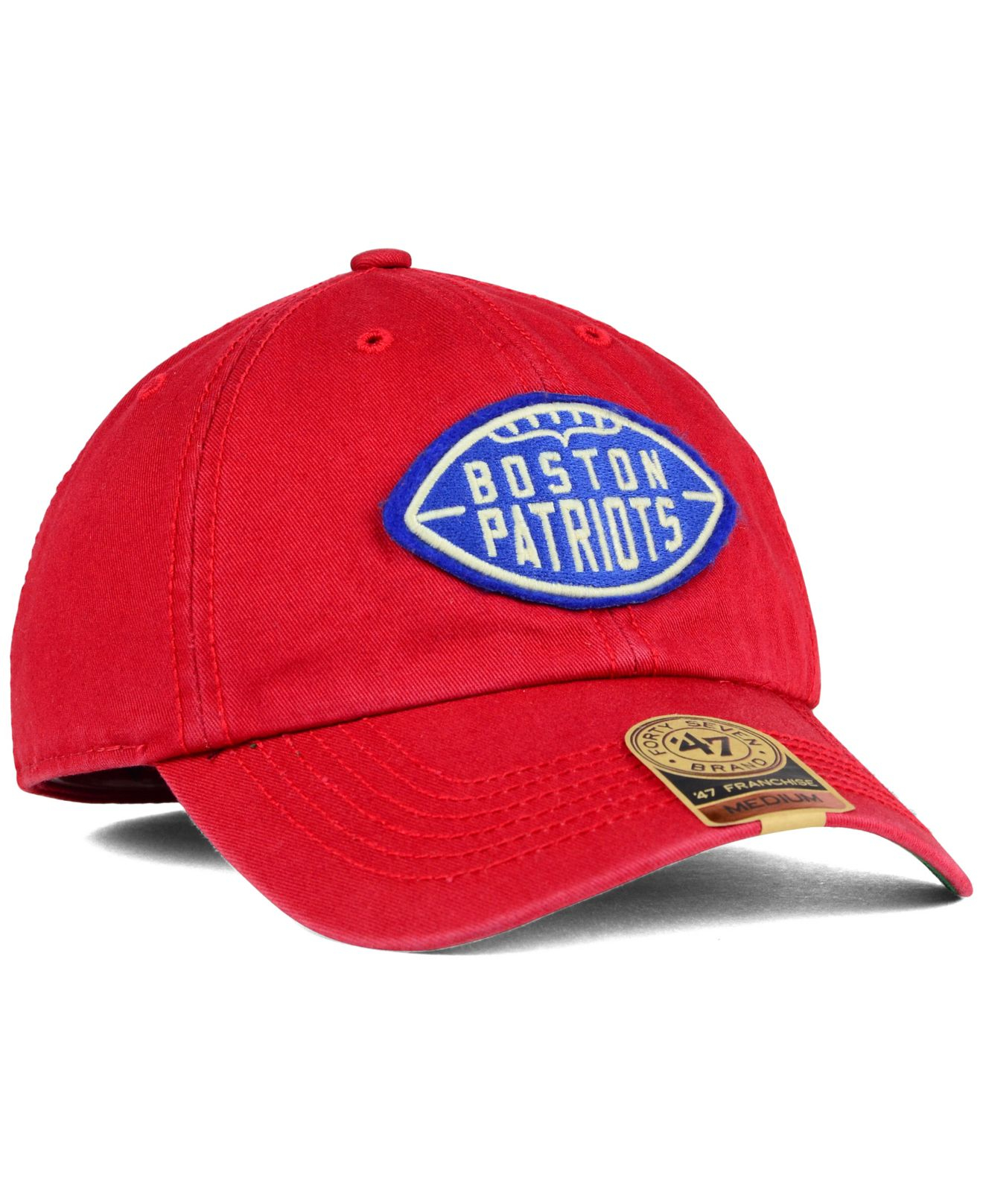 fad44c9ac6e Lyst - 47 Brand New England Patriots Papa Franchise Cap in Red for Men