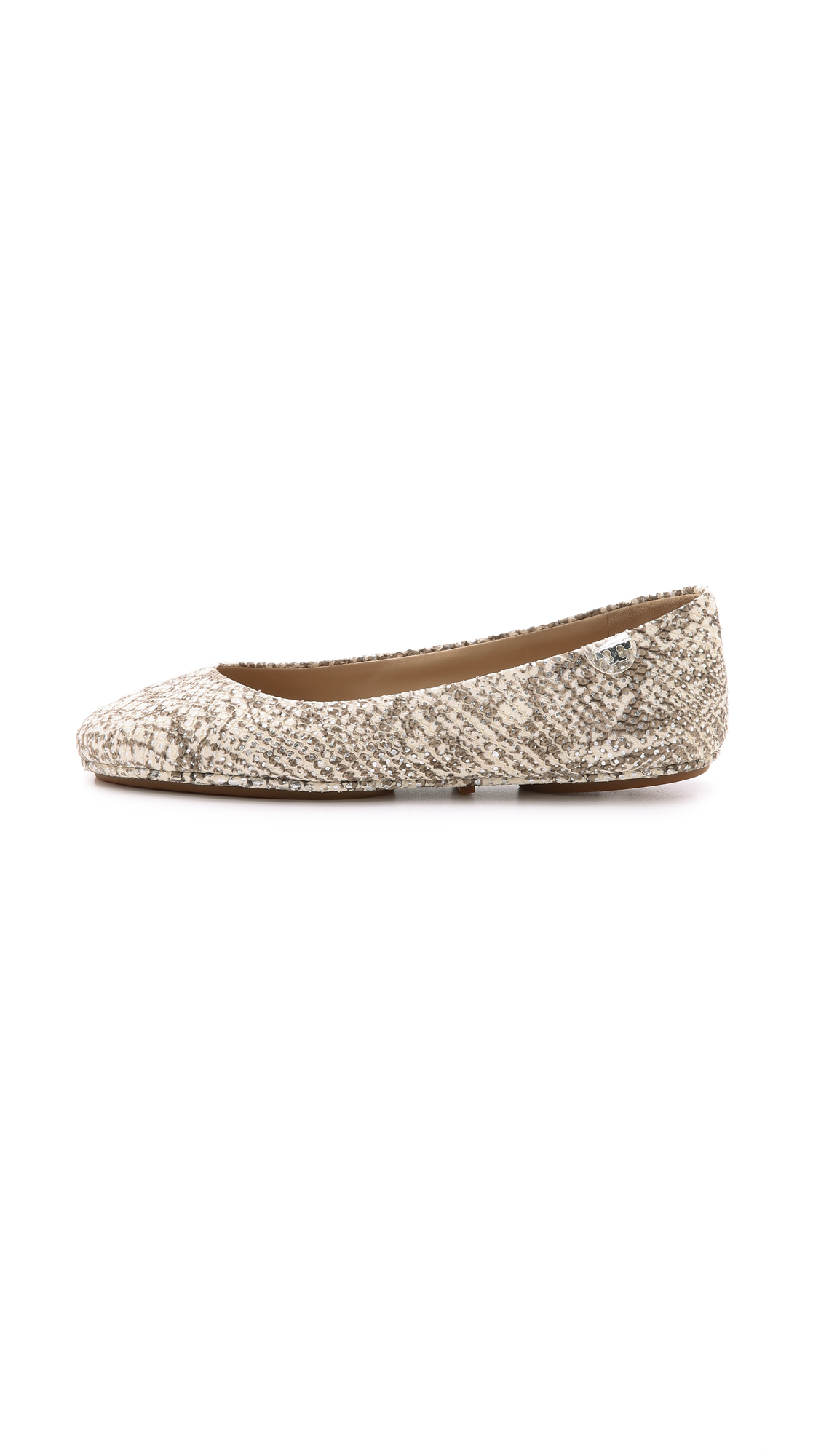 Tory Burch Minnie Travel Ballet Flats  Snake Print In Multicolor  Lyst