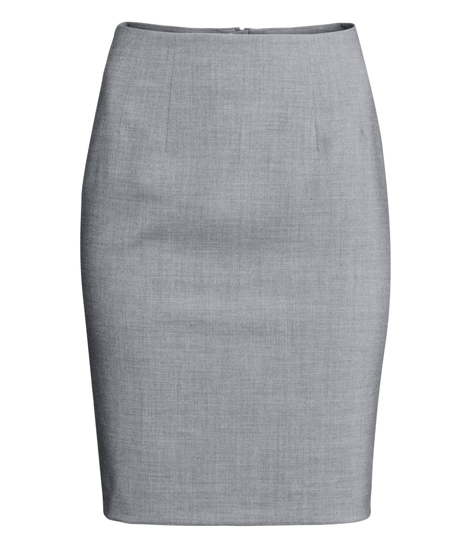 5d0a1b78bfe9 H&M Pencil Skirt in Gray - Lyst