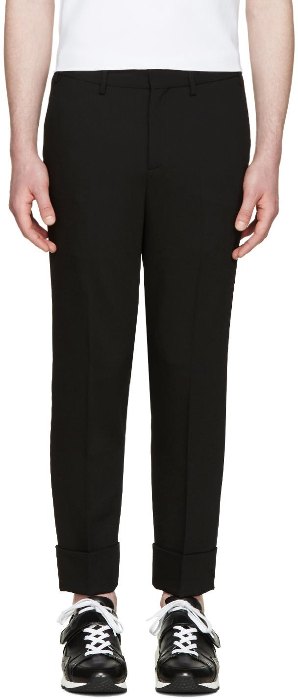 Neil barrett black cropped tuxedo trousers in black for for Neil barrett tuxedo shirt