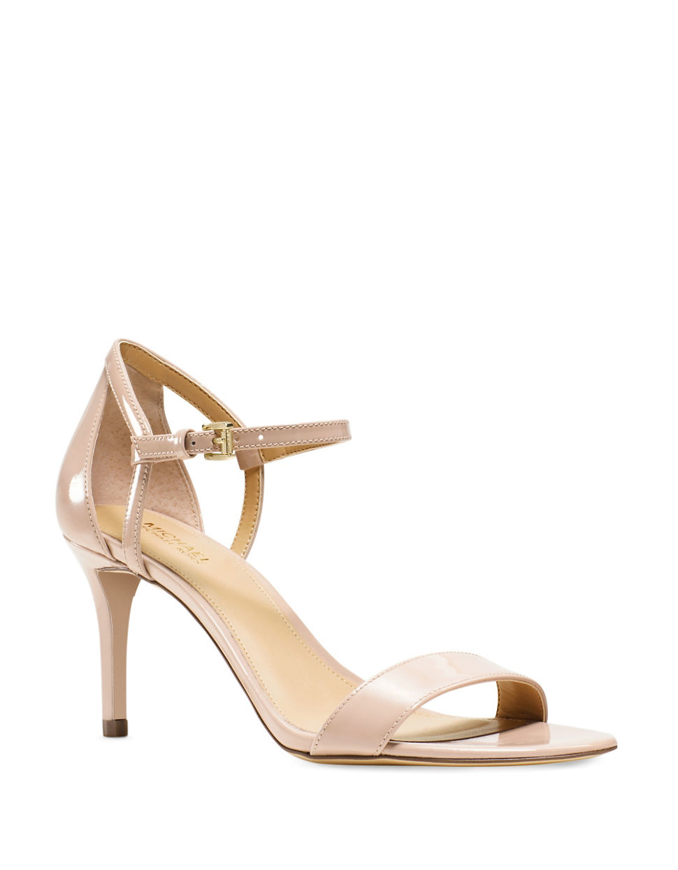 michael michael kors patent leather sandals in pink