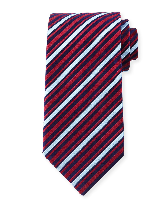 charvet striped silk tie for lyst