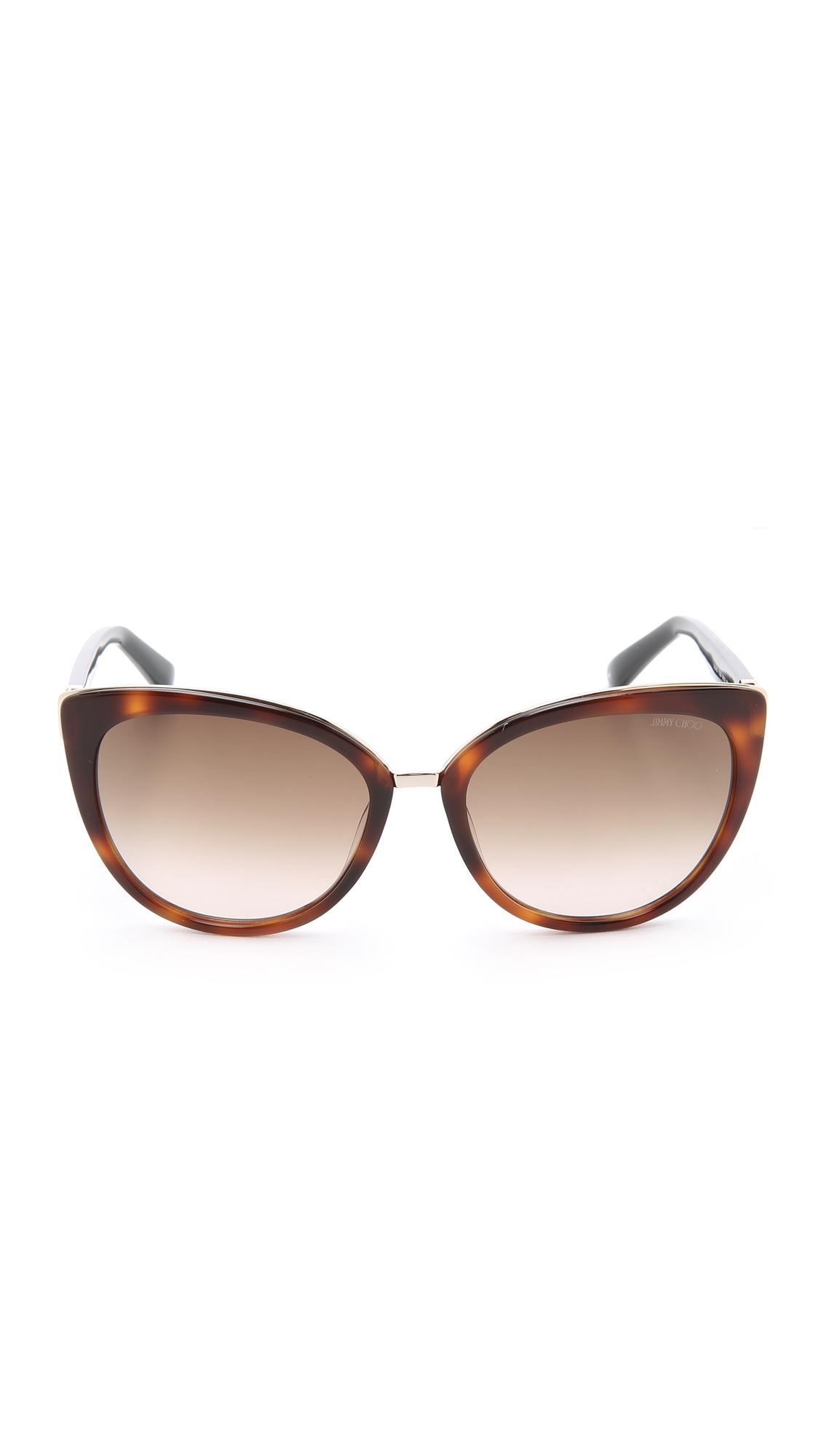 0151518babf Jimmy Choo Dana Sunglasses in Brown - Lyst