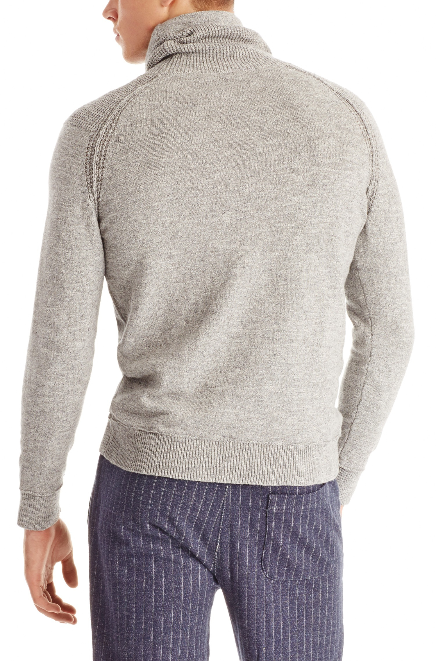 boss orange 39 acelin 39 cotton pullover sweater in gray for. Black Bedroom Furniture Sets. Home Design Ideas