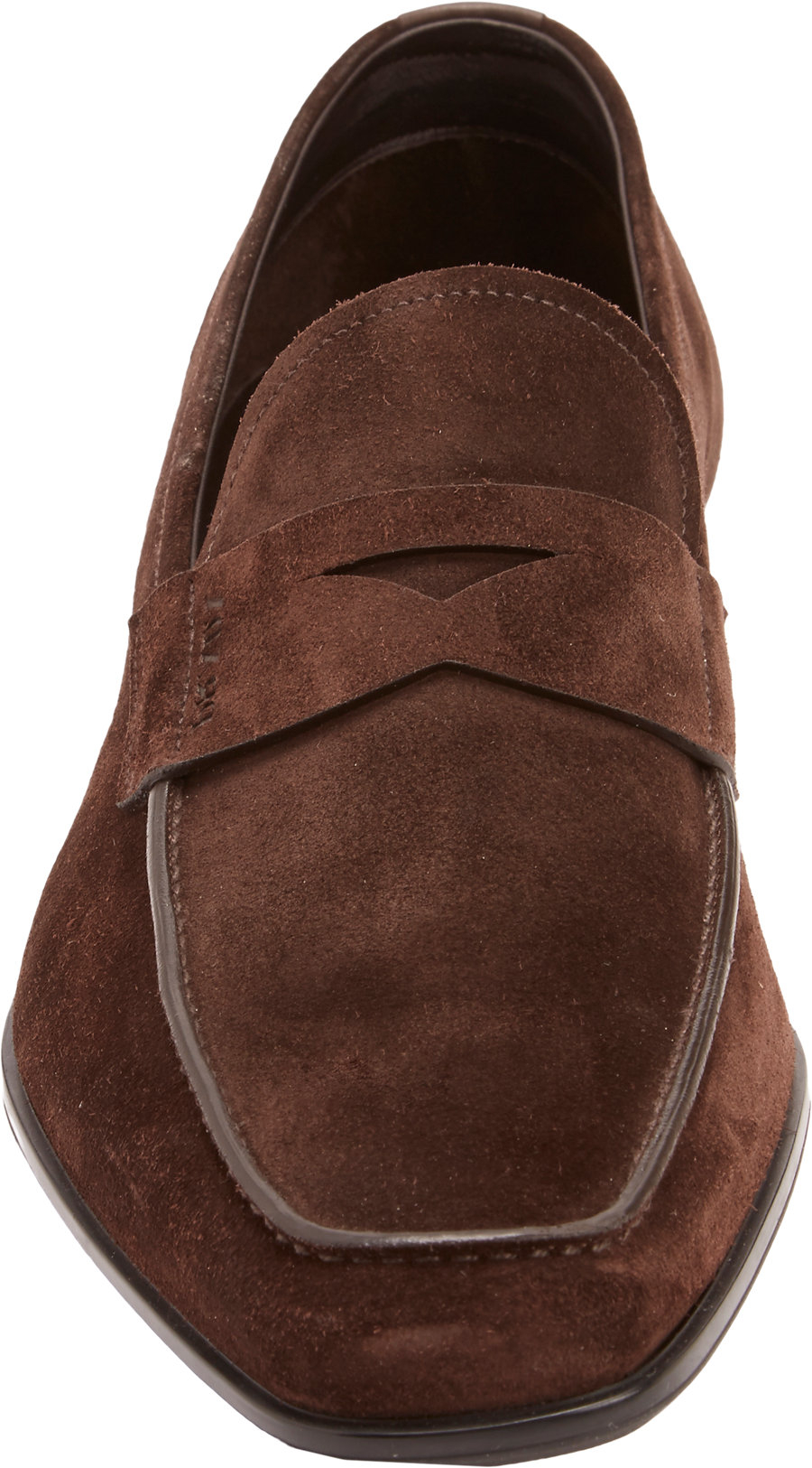 Lyst - Prada Suede Penny Loafers in Brown for Men