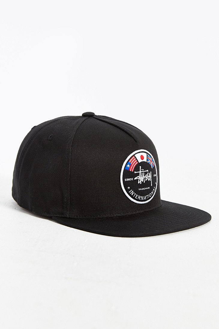 9fea11679c9 Lyst - Stussy International Flags Snapback Hat in Black for Men