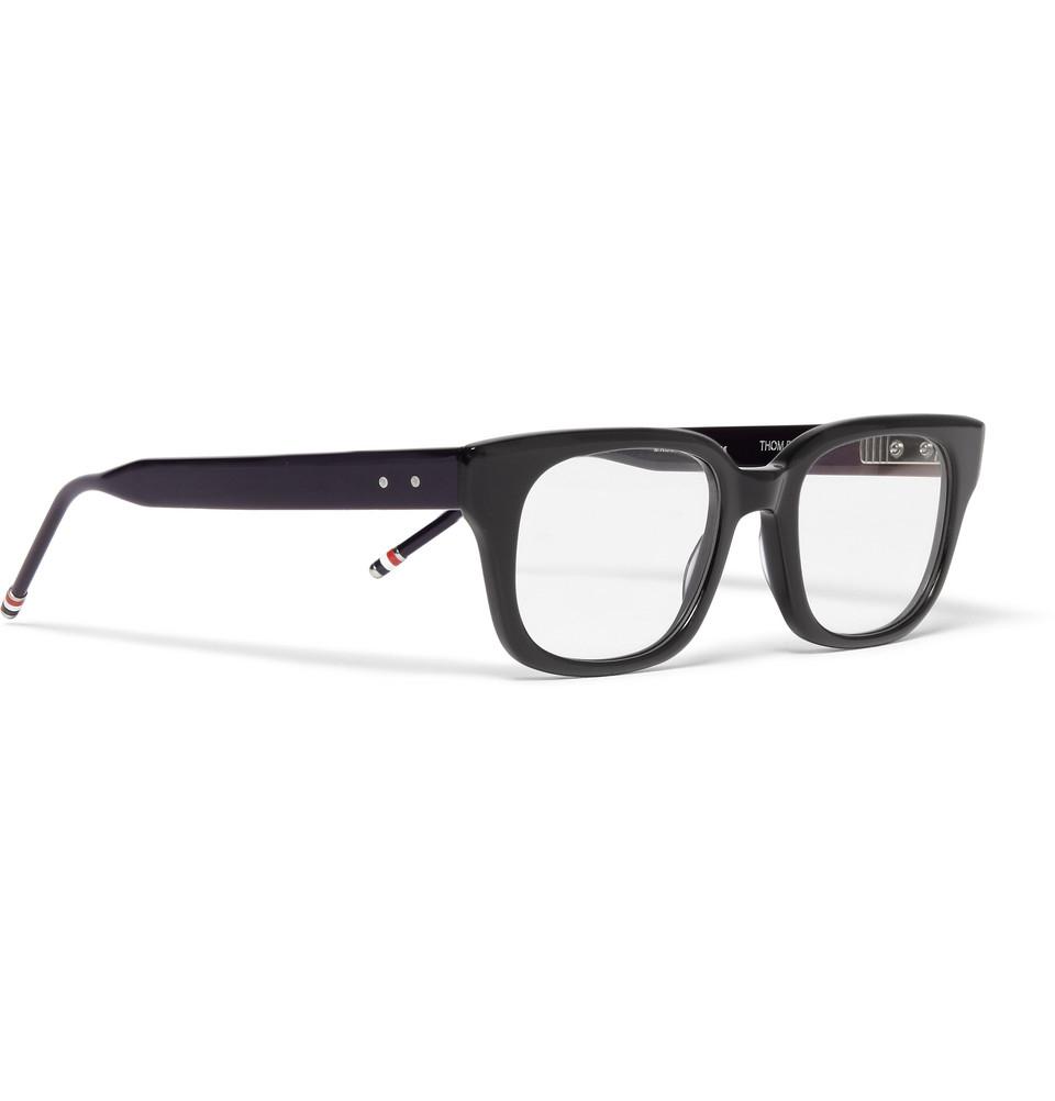 Glasses Frame Acetate : Thom browne Square-Frame Acetate Optical Glasses in Blue ...